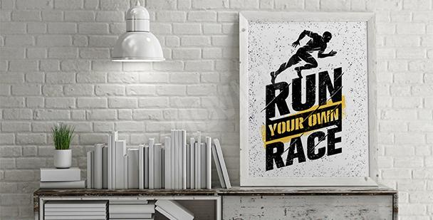 Plakat bieganie styl nowoczesny