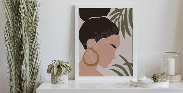 Plakat boho – kobieta
