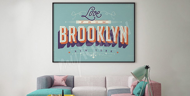 Plakat Brooklyn vintage