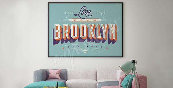 Plakat Brooklyn vintage