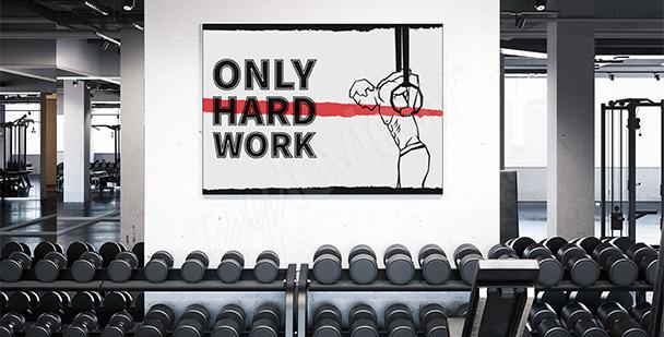 Plakat crossfit na siłownię