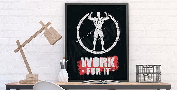 Plakat crossfit ze sportowcem