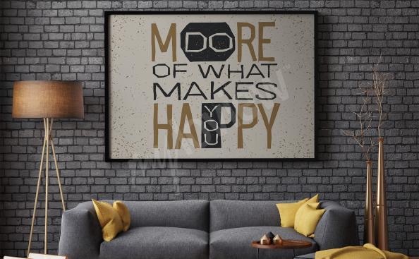 Plakat cytat motywacyjny do salonu