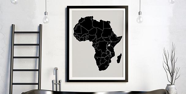 Plakat czarna Afryka