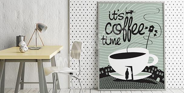 Plakat czas na kawę