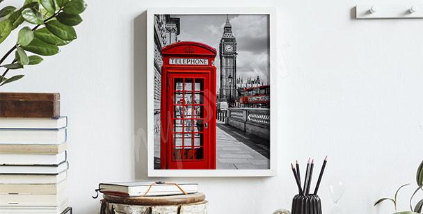 Plakat Londyn w stylu vintage