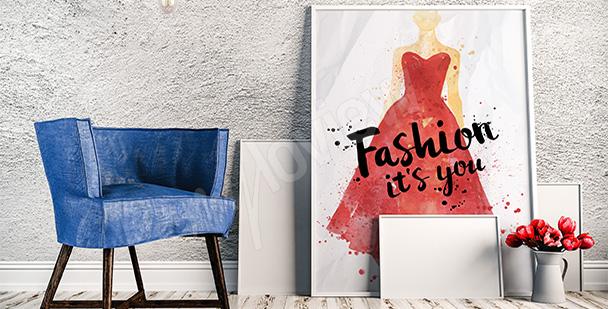Plakat czerwona sukienka