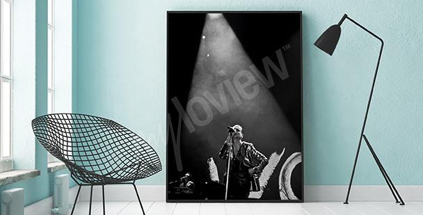 Plakat Depeche Mode biało-czarny