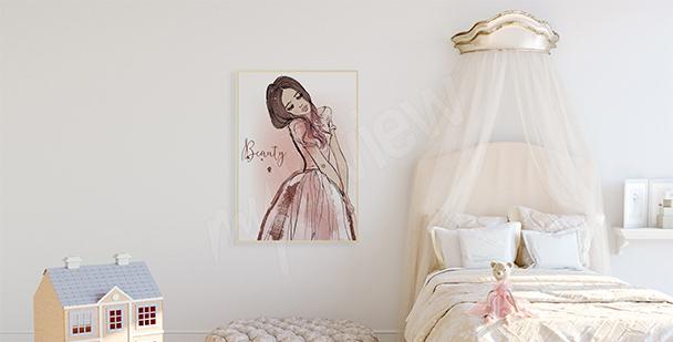 Plakat dla dziewczynki z księżniczką