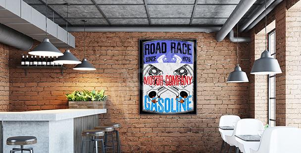 Plakat dla fanów motoryzacji