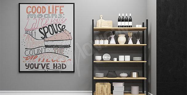 Plakat do kuchni słodycze
