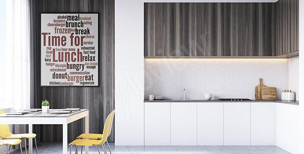 Plakat do kuchni typografia