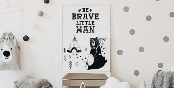 Plakat do chłopięcego pokoju z napisem