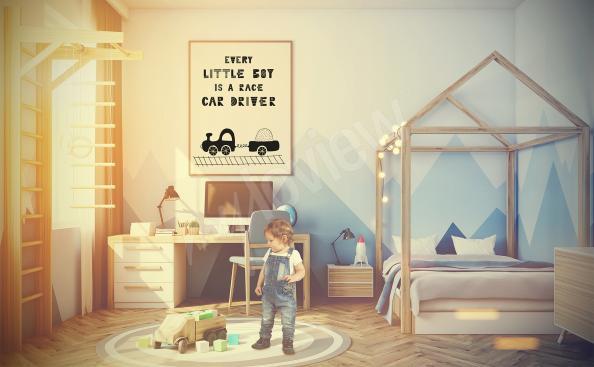 Plakat do pokoju chłopca z pociągiem