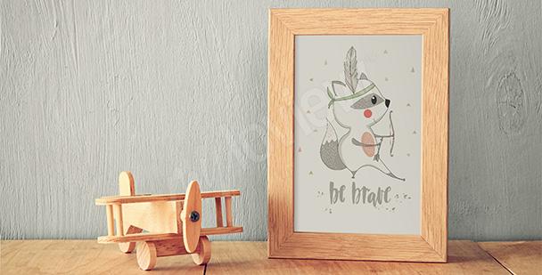Plakat do pokoju dziecięcego szop