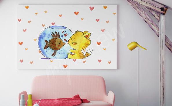 Plakat do pokoju dziecka ze zwierzątkami