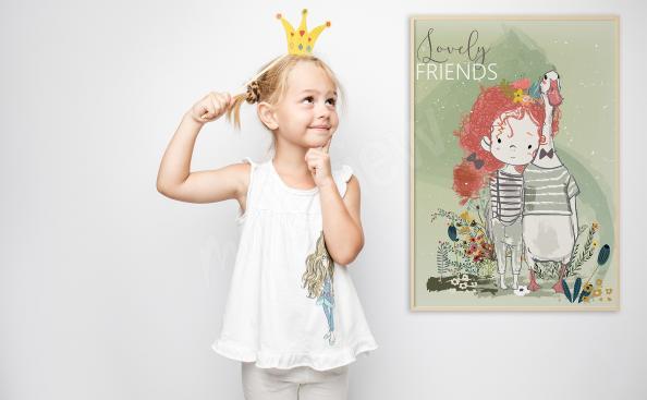 Plakat do pokoju dziewczynki: przyjaciele