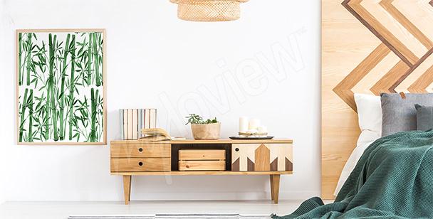 Plakat do sypialni z bambusem