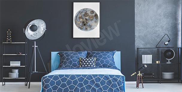 Plakat do sypialni z księżycem
