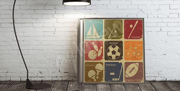 Plakat dyscypliny sportowe