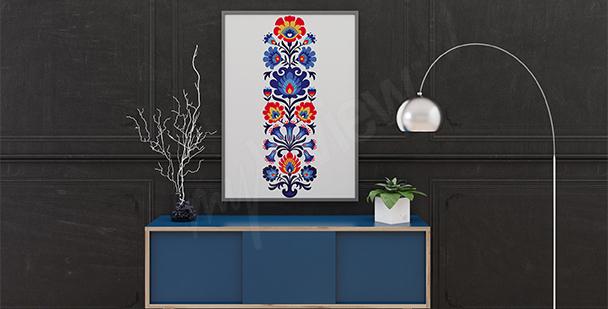 Plakat etniczny wzór ludowy