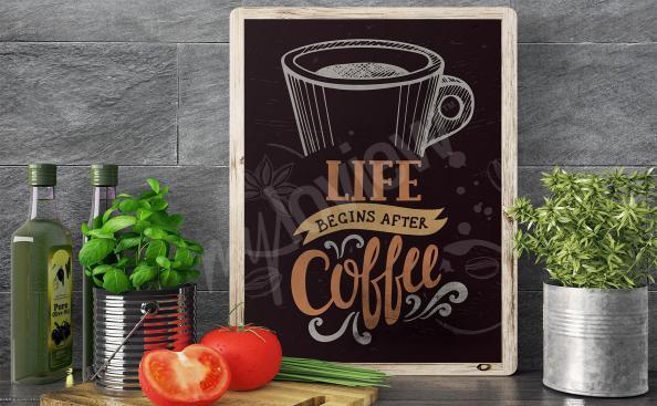 Plakat filiżanka kawy do kuchni