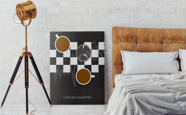 Plakat filmowy Coffee and Cigarettes
