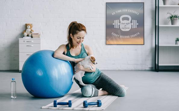 Plakat fitness dla sportowca