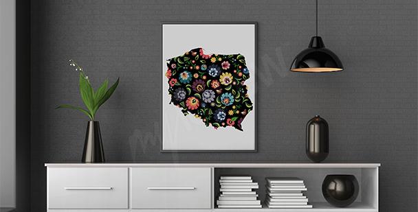 Plakat folklor: ludowa mapa