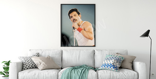 Plakat Freddie Mercury do salonu