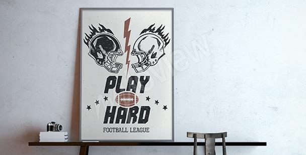 Plakat futbol amerykański