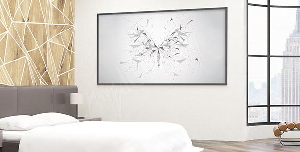 Plakat geometryczny motyl