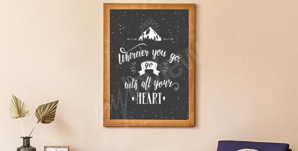Plakat góra i las