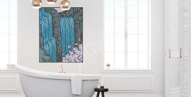 Plakat górska przyroda do łazienki