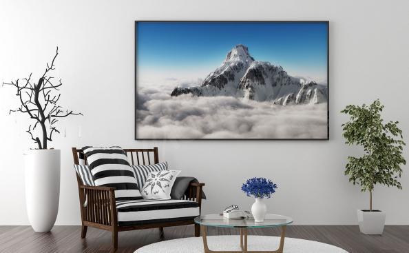 Plakat górski szczyt
