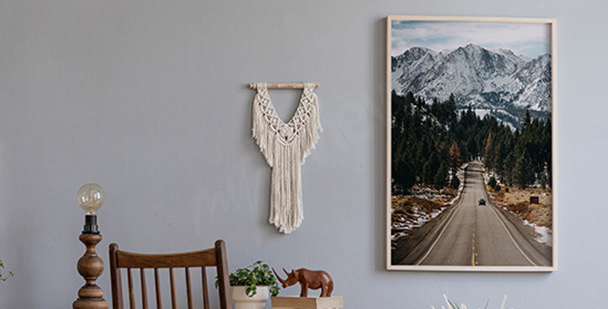 Plakat góry w Colorado