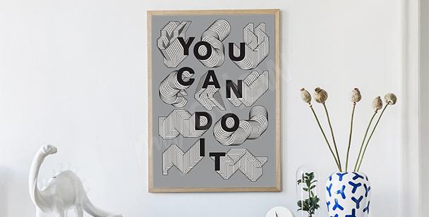 Plakat motywacyjny typografia
