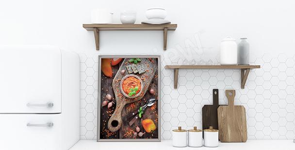 Plakat hummus do kuchni