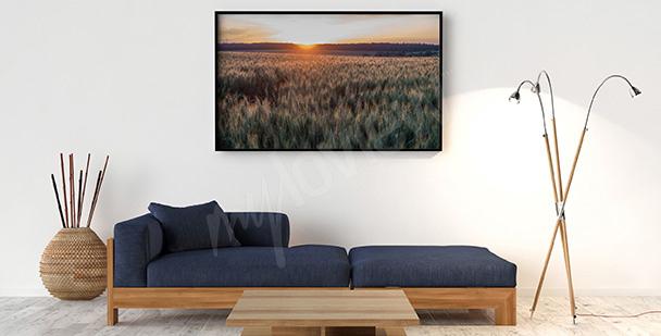 Plakat idylliczny krajobraz