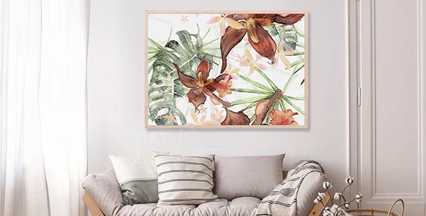 Plakat ilustracja botaniczna