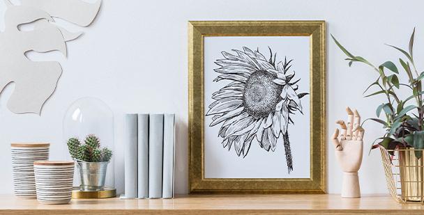 Plakat ilustracja słonecznika