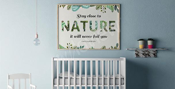 Plakat inspirowany naturą