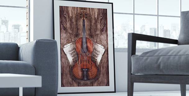 Plakat instrumenty: skrzypce