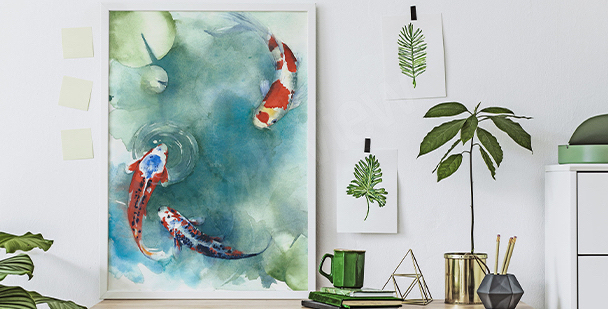 Plakat japońskie ryby