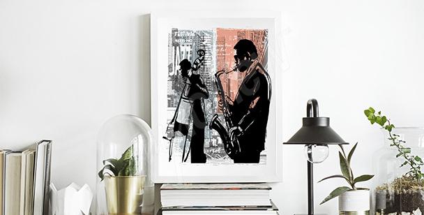 Plakat jazz w Nowym Jorku