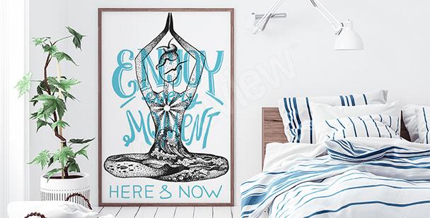 Plakat joginka do sypialni