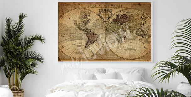 Plakat kartografia do sypialni