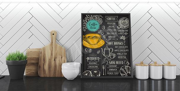 Plakat kawa i menu