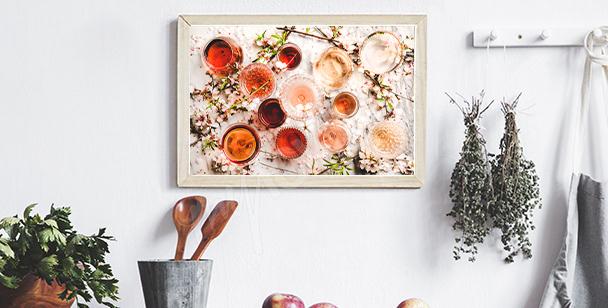 Plakat kieliszki wina