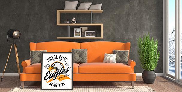 Plakat klub motocyklowy